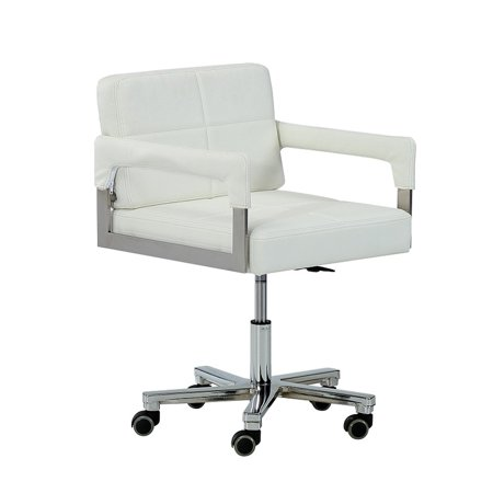 Modern White Bonded Leather Office Chair