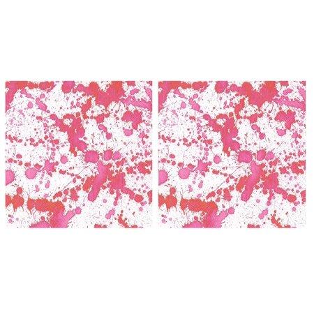 Entertaining with Caspari Splatterware Luncheon Napkins Pink 2 Packs of 20