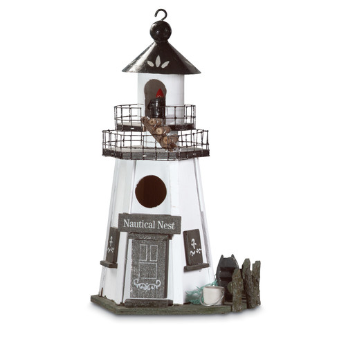 Zingz & Thingz Lighthouse Lookout 12.5 in x 7.5 in x 5.5 in Birdhouse by Zingz & Thingz