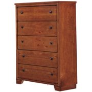Progressive Diego 5 Drawer Chest in Cinnamon Pine