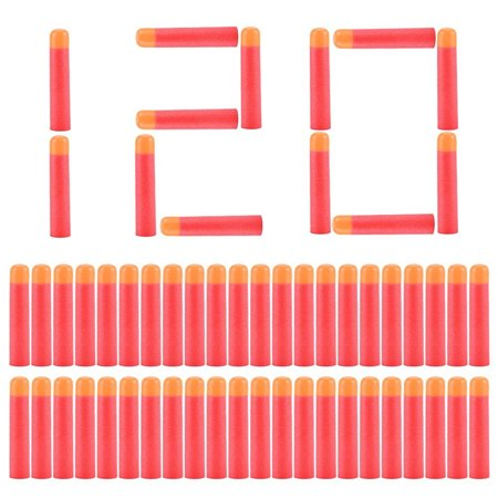 120pcs Red Refill Bullet Soft Foam Bullet Darts for Elite Series Play