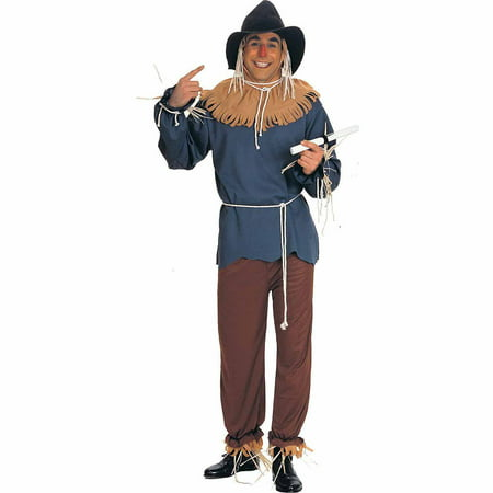 The Wizard of Oz Scarecrow Adult Halloween Costume - Scarecrow Makeup Halloween
