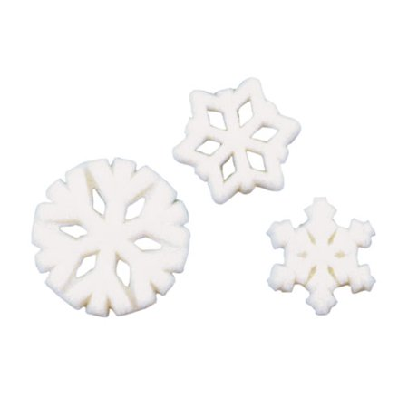 - Snowflake SP Molded Sugar Cake/Cupcake Decorations 12 ct