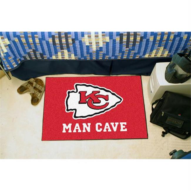 Fan Mats FAN-14320 Kansas City Chiefs NFL Man Cave All-Star Floor Mat - 34in x 45in