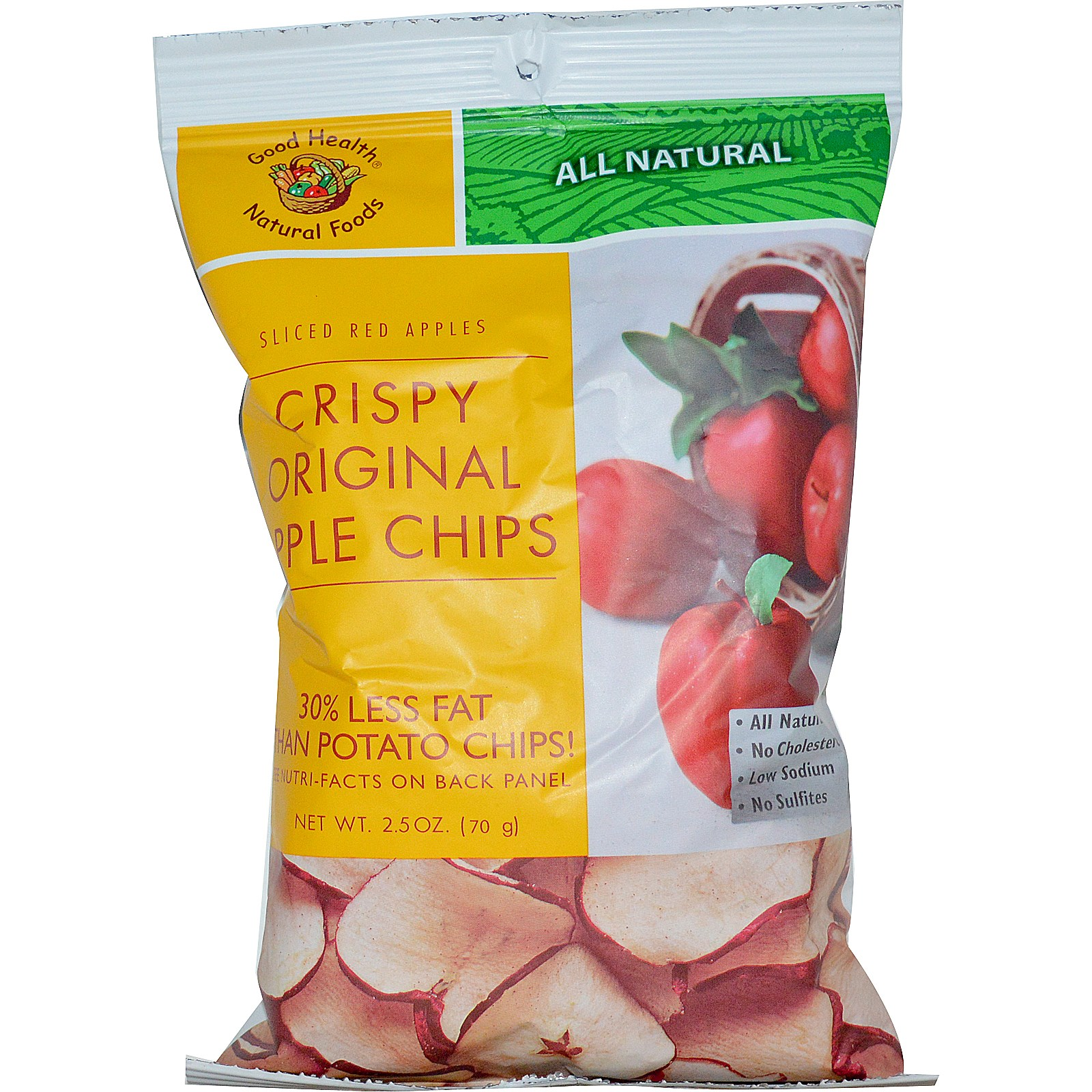 Good Health Natural Foods, Apple Chips, Original, 2.5 oz(pack of 3) by