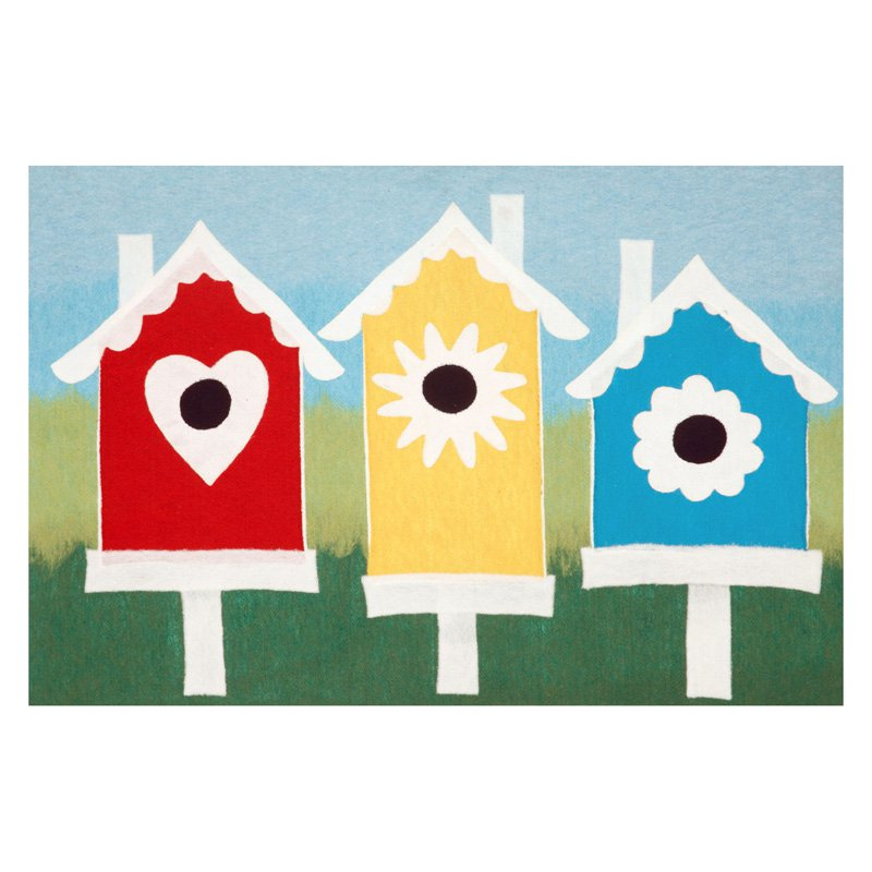 Liora Manne Visions III Birdhouses Doormat by Supplier Generic