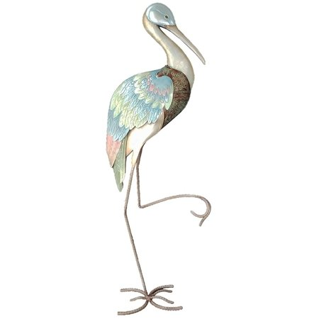 Metal & Capiz Shell Art Right Wading Stork 31