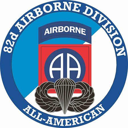 82nd Airborne with Jump Wings 8 Inch Decal