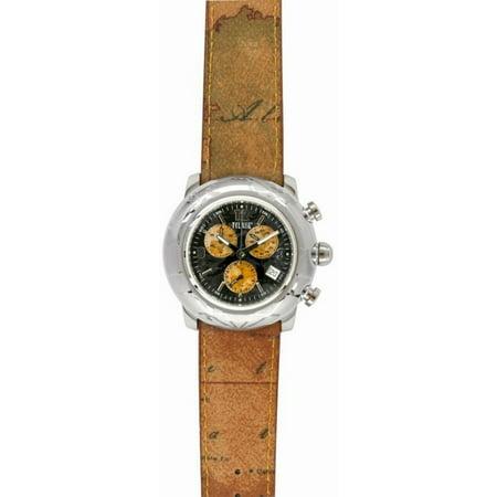 Prima Classe Mens Pch 781B Au Chronograph Black Dial Geo Design Date Watch