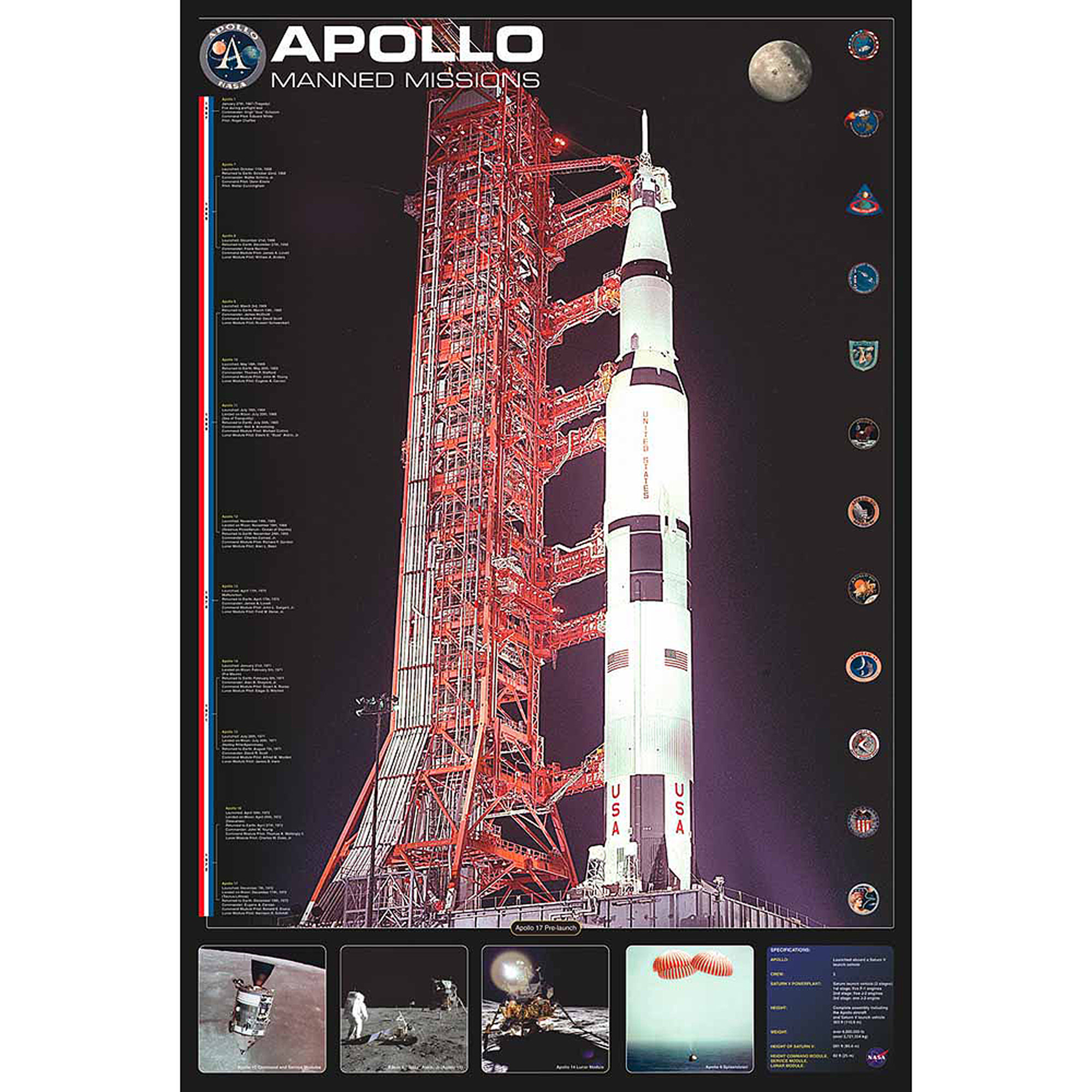 Apollo Manned Missions Photography Art