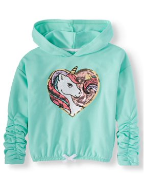 Miss Chievous Sequin Critter Cinched Pullover Hoodie (Big Girls)