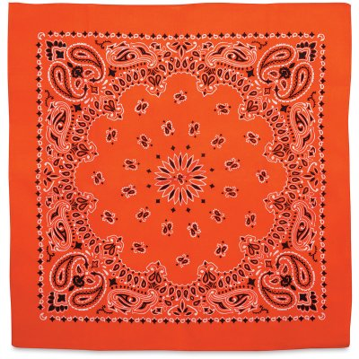 Carolina Paisley Bandana - Orange