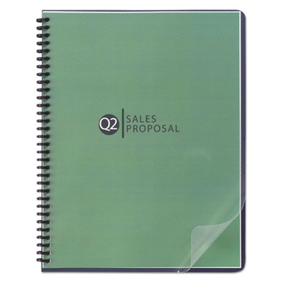 Design View Binding System Covers, 11-1 4 x 8-3 4, Clear, 25 Pack, Sold as 1 Package, 25 Set per Package by