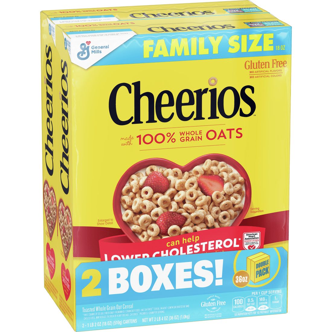 Cheerios Cereal, Gluten Free, Whole Grain Oats, 2 Pack-18