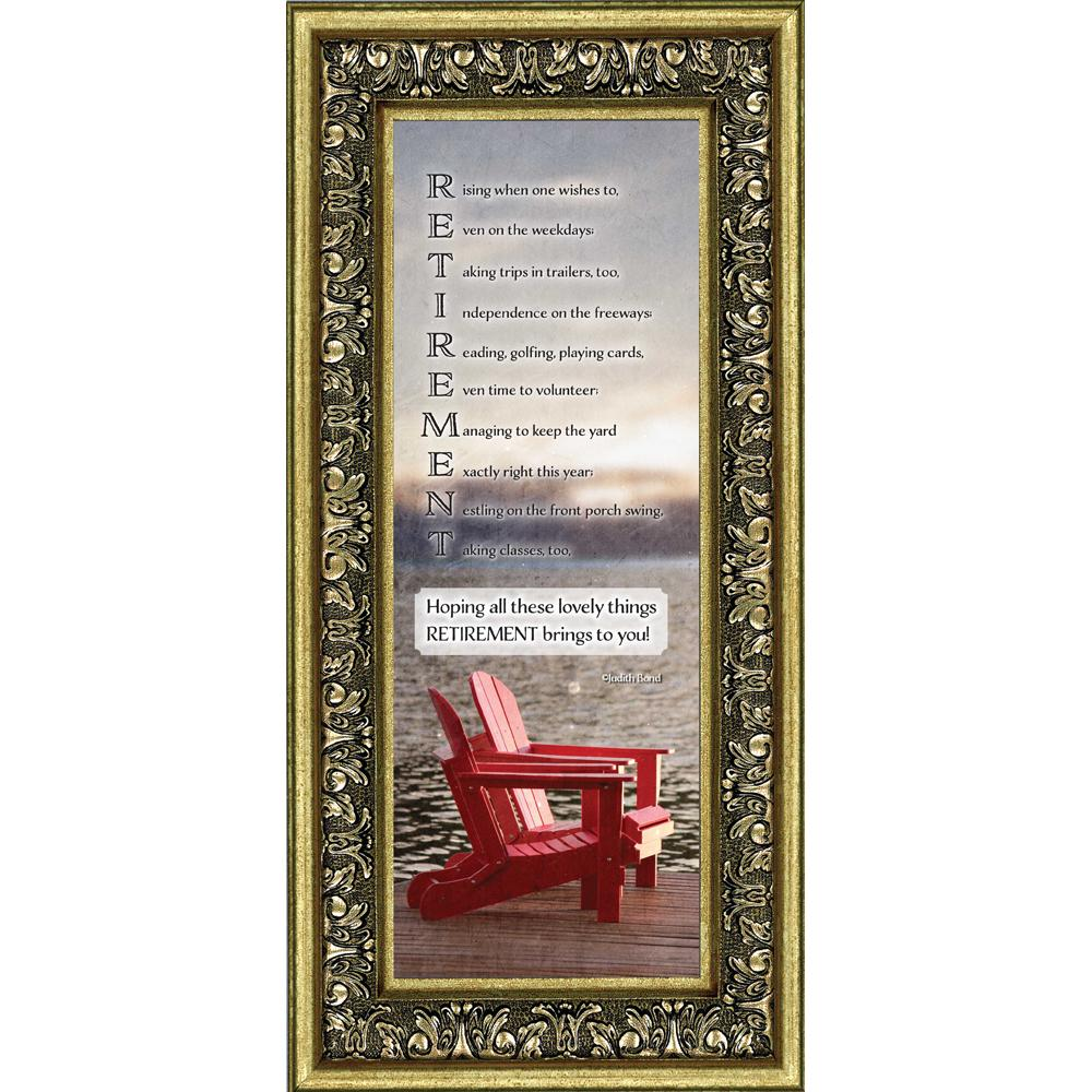 Retirement, Gifts for Men and Women Picture Frame, Retirement Gift Ideas,6x12 7309
