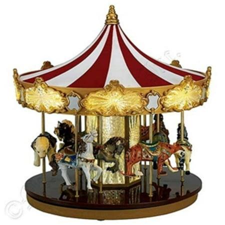 mr christmas animated musical celebration carousel decoration 19756