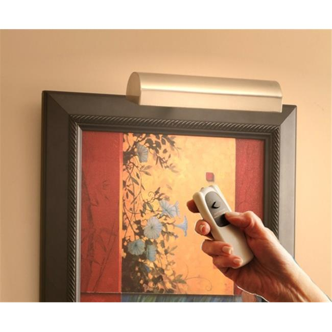 Concept Lighting 205L Slimline Satin Nickel 8 In. Cordless LED Remote Control Picture Light