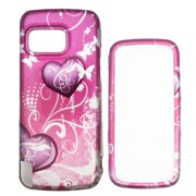 Soul Wireless NK5230SC026 Nokia 5230 Nuron Pink Heart Snap On Protective Case Cover