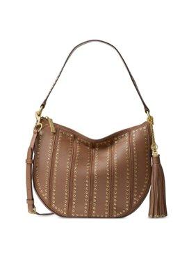 2c55667e3475 Free shipping. Product Image MICHAEL Michael Kors Suede Medium Dark Caramel  Convertible Hobo Handbag