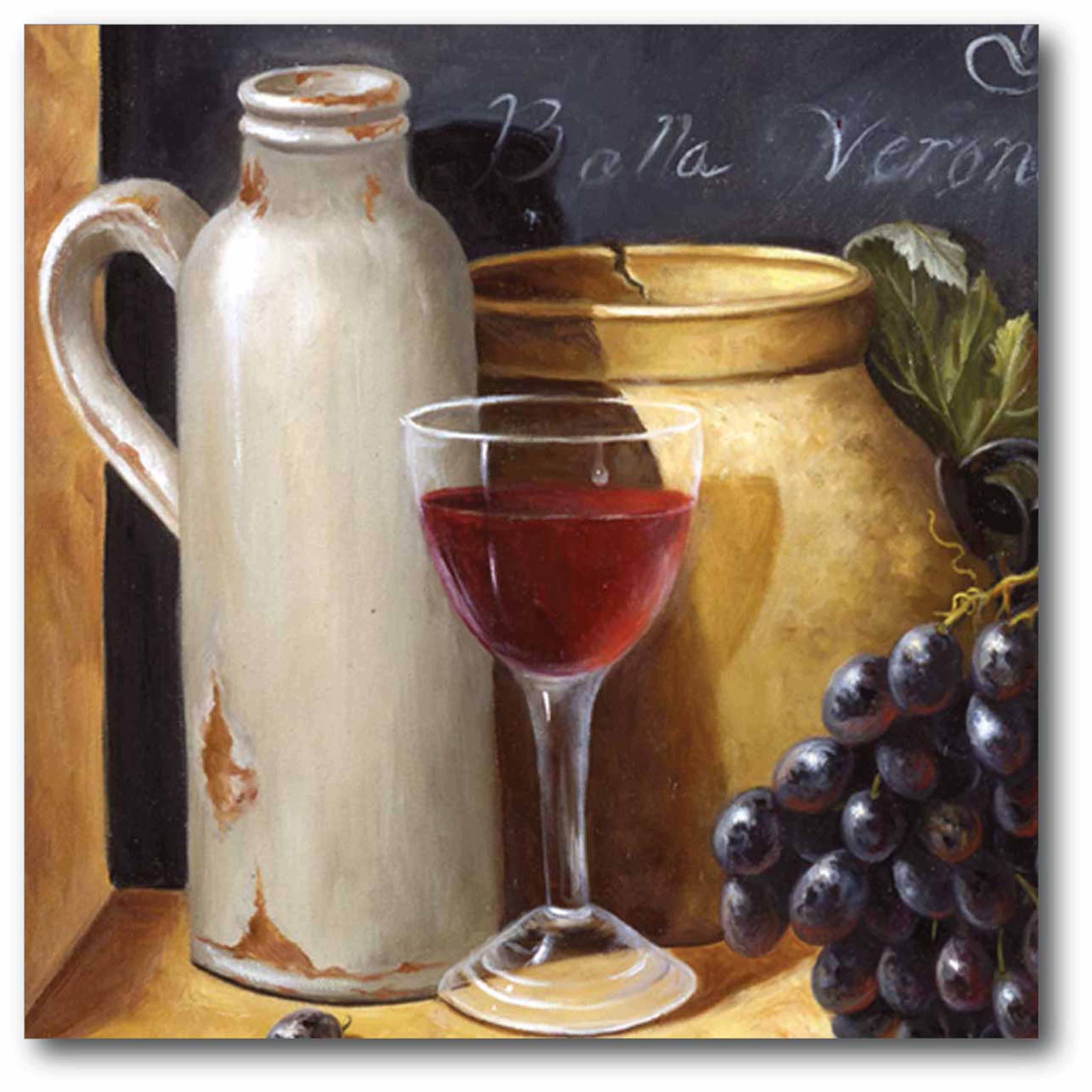 Red Wine Jar Gallery-Wrapped Canvas Wall Art, 16x16