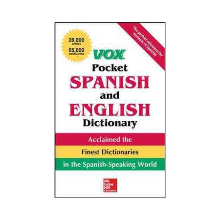 Vox Pocket Spanish And English Dictionary