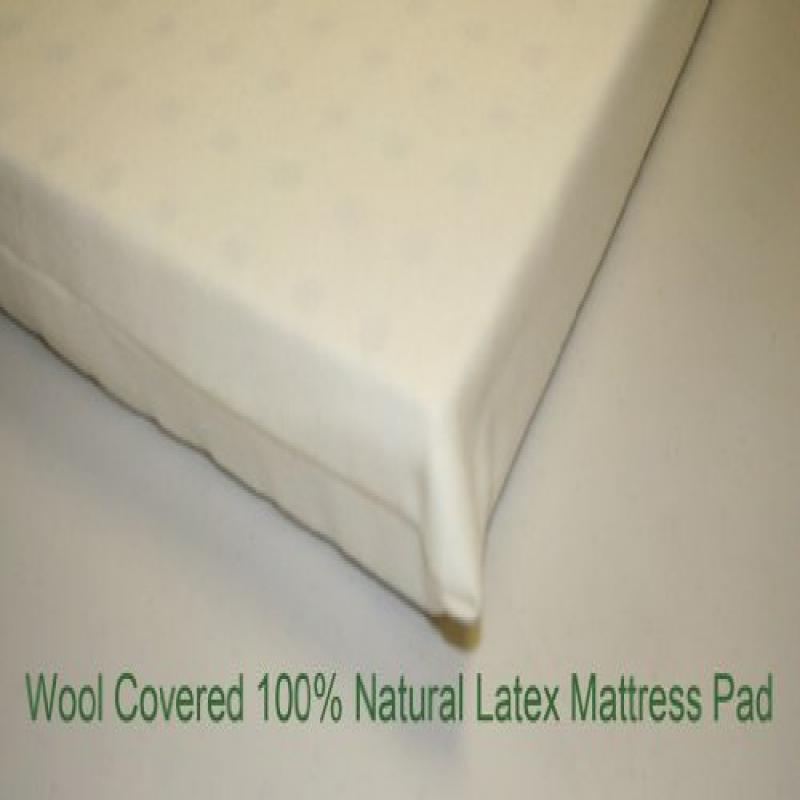 All Natural Latex, Wool covered Pads for Mini, Porta-crib...