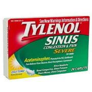 Product Of Tylenol Sinus, Daytime - Congestion & Pain Severe, Count 1 - Medicine Cold/Sinus/Allergy / Grab Varieties & Flavors
