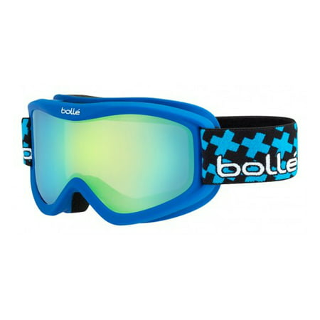 Bolle Volt Plus Snow Goggles - Matte Blue Cross Frame - Green Emerald Lens - 21360 (Snow Goggles Uk)