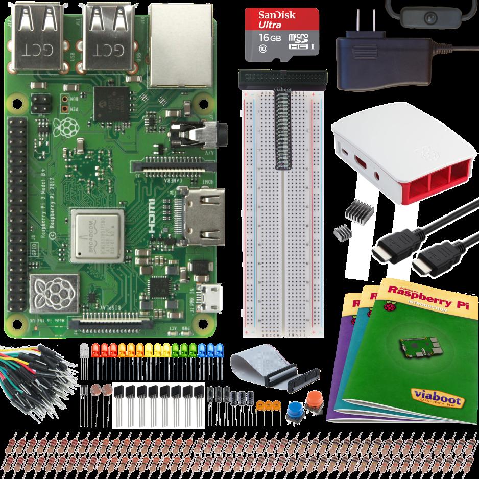 Viaboot Raspberry Pi 3 B+ Ultimate Kit with Premium Black Case