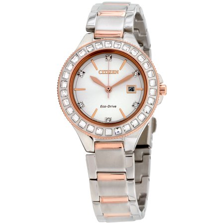 Citizen Silhouette Crystal Silver Dial Stainless Steel Ladies Watch - Citizen Silhouette Crystal