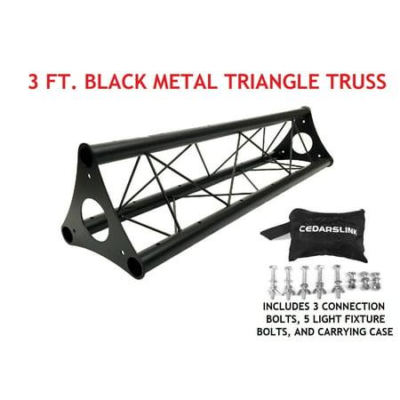 3 39 wide triangular trussing mobile dj lighting bolt truss system triangles. Black Bedroom Furniture Sets. Home Design Ideas