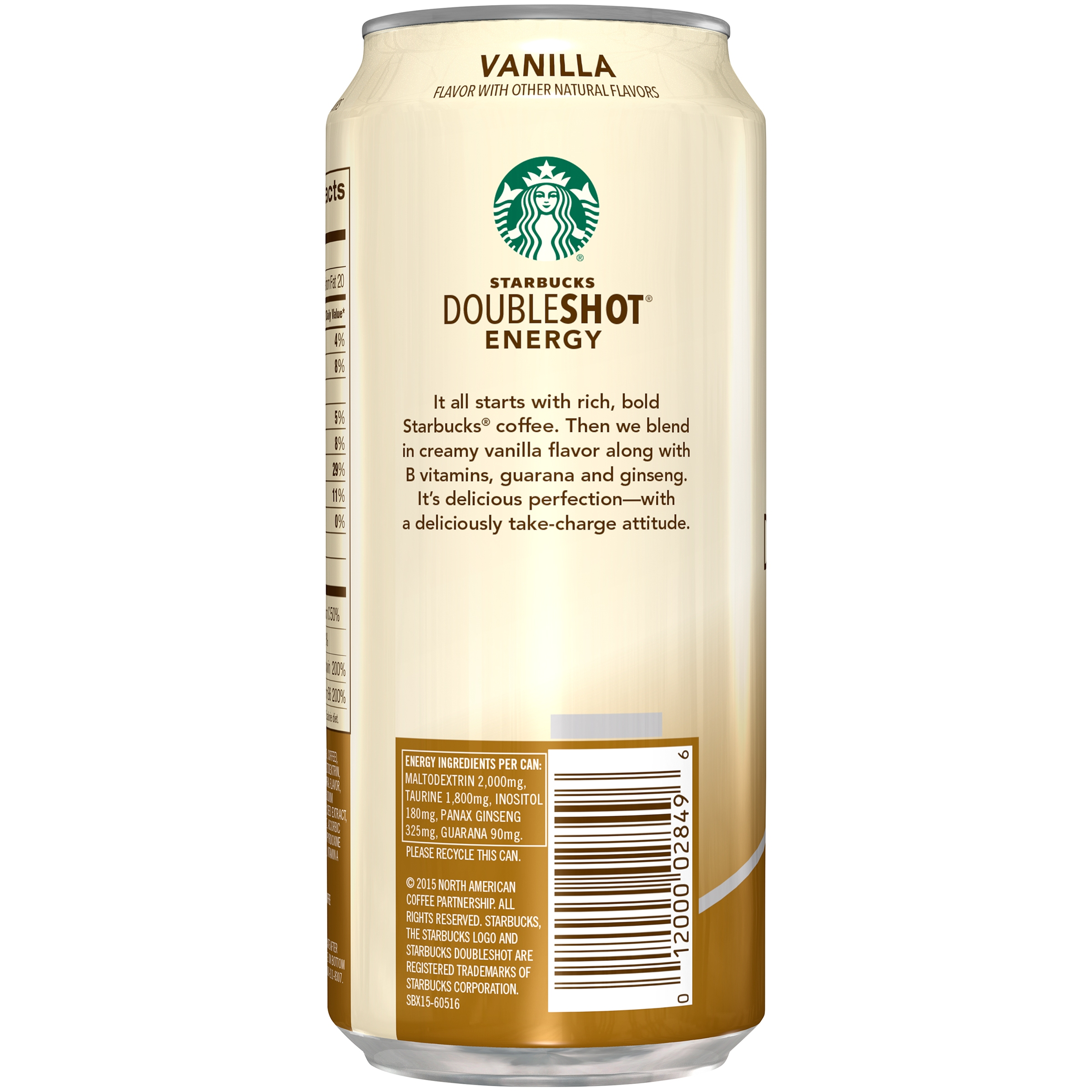 Starbucks Doubleshot Energy Vanilla Energy Coffee Beverage 15 Fl Oz