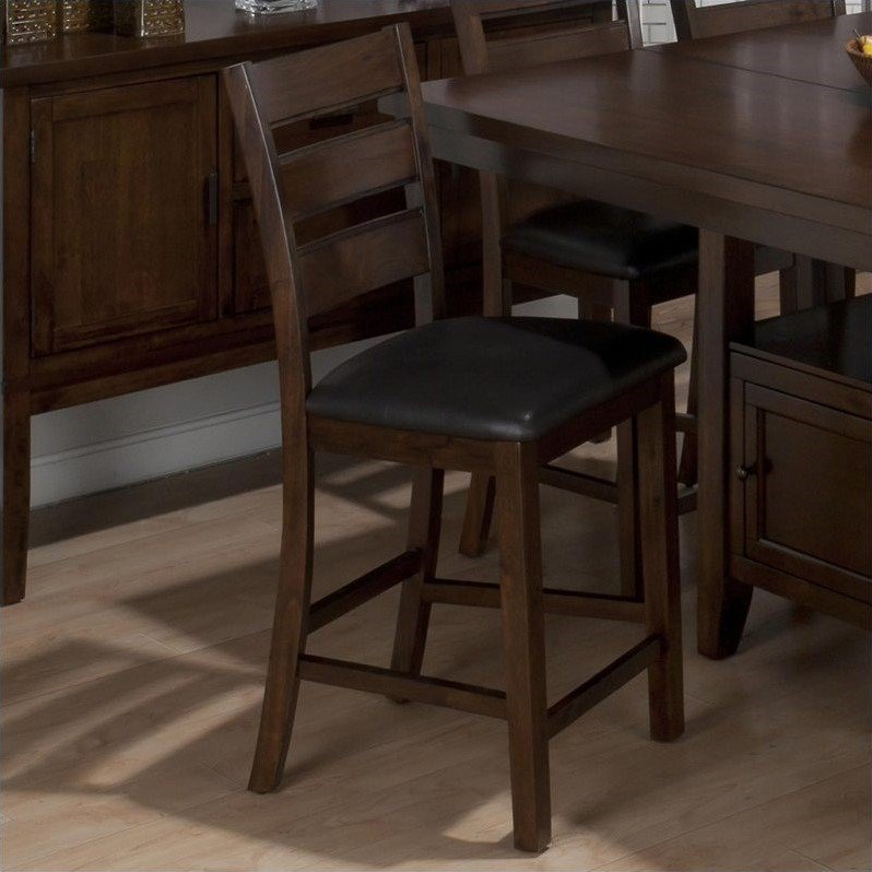 """Jofran 23.5"""" Counter Stool in Taylor Brown Cherry (Set of 2) by Jofran"""