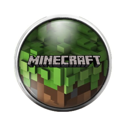 Minecraft - 18MM Glass Dome Candy Snap Charm GD0224 - Candy Charm