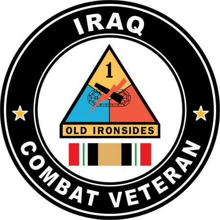 3.8 Inch 1st Armored Division Iraq Combat Veteran Operation Iraqi Freedom OIF Decal Sticker