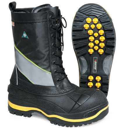BAFFIN POLA-MP01-BK2-12 Winter Boots,Mens,12,Lace,Steel,1PR