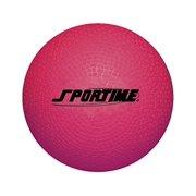 "School Smart Rubber Playground Ball, 10"", Red"