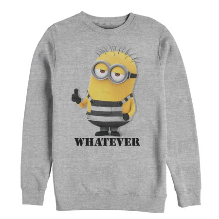 Despicable Me 3 Men's Minion Whatever Prisoner Sweatshirt (Minion Hoodie)