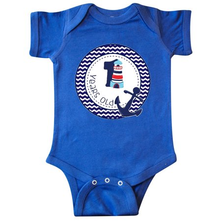 1 Years Old Nautical Anchor Boy Birthday Infant Creeper](Presents For 1 Year Old Boy)