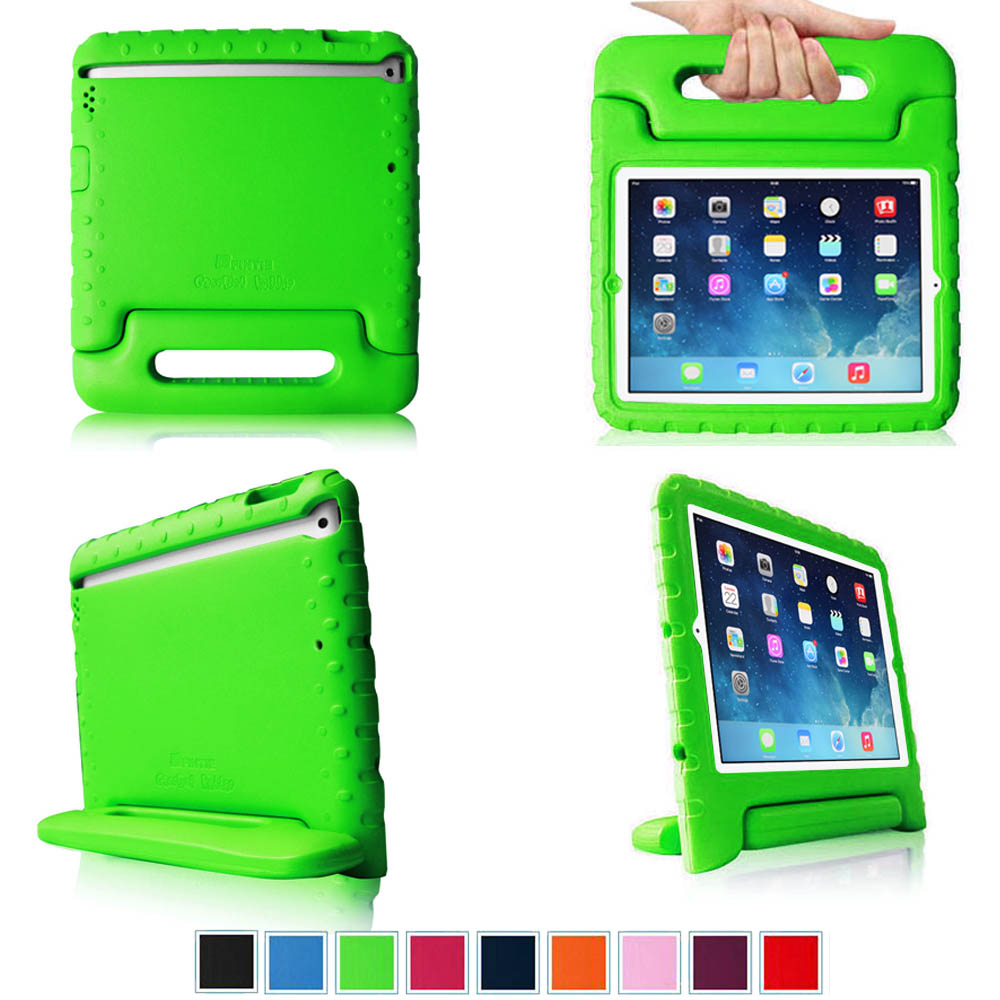 Fintie iPad Air Kiddie Case - Lightweight Shockproof with Convertible Handle Stand Kids Friendly Cover, Green