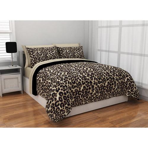 Formula Brushstroke Cheetah Reversible Bed in a Bag Bedding Set