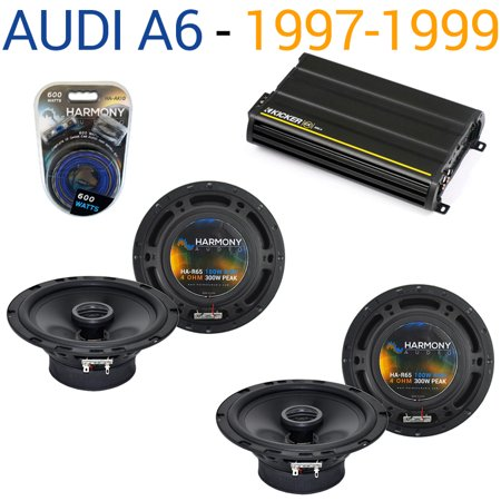 Audi A6 1997-1999 Factory Speaker Replacement Harmony (2) R65 & CX300.4 Amp - Factory Certified