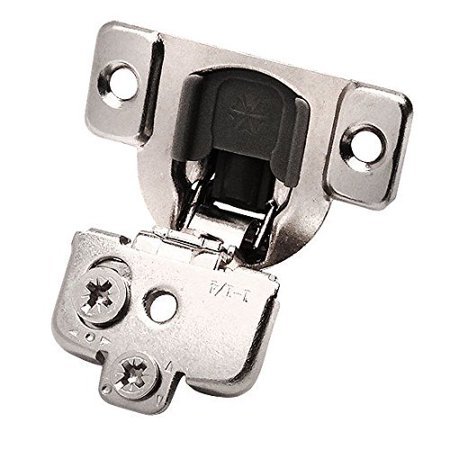 110 Degree Full Overlay (Cosmas 39888 Compact 110 Degrees Concealed Soft-Close Euro Style Screw-On Cabinet Hinge 1-1/4