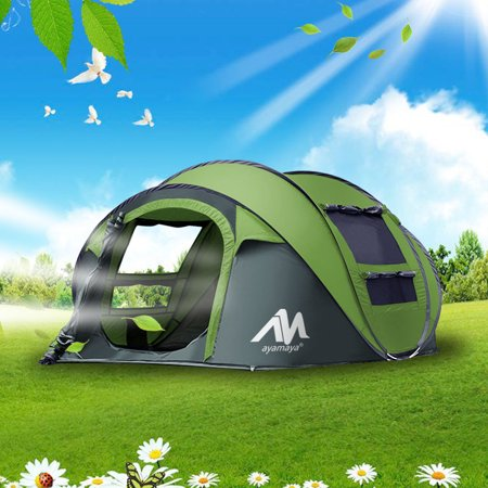 92e39e5b8d2 Camping Tents 3/4 Person/People Easy Up Instant Setup Shelter,IClover [