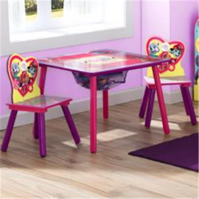 Delta Children TT89551PW Paw Patrol Skye & Everest Table & Chair Set with Storage