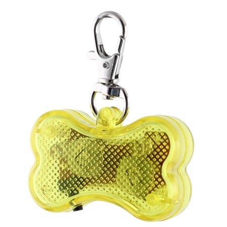 Plastic Id Tags Bone - Pet Plastic Bone Shape 3 Modes  Flash Light  Pendant Name ID Tag Yellow
