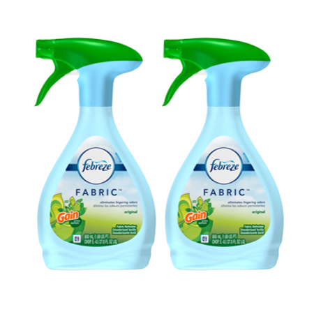 (2 pack) Febreze FABRIC Refresher with Gain, Original, 2 Total, 27 oz