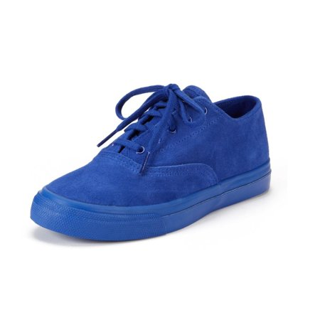Sperry Blue Shoes - Sperry Top-Sider Women's Blue Suede CVO Sneaker