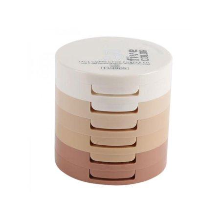 Dimensional Makeup (Silk Yin Three-dimensional Nude Makeup Trim Powder Cake Concealer Repair Capacity 5 In 1,Waterproof, Dry And Wet Powder)