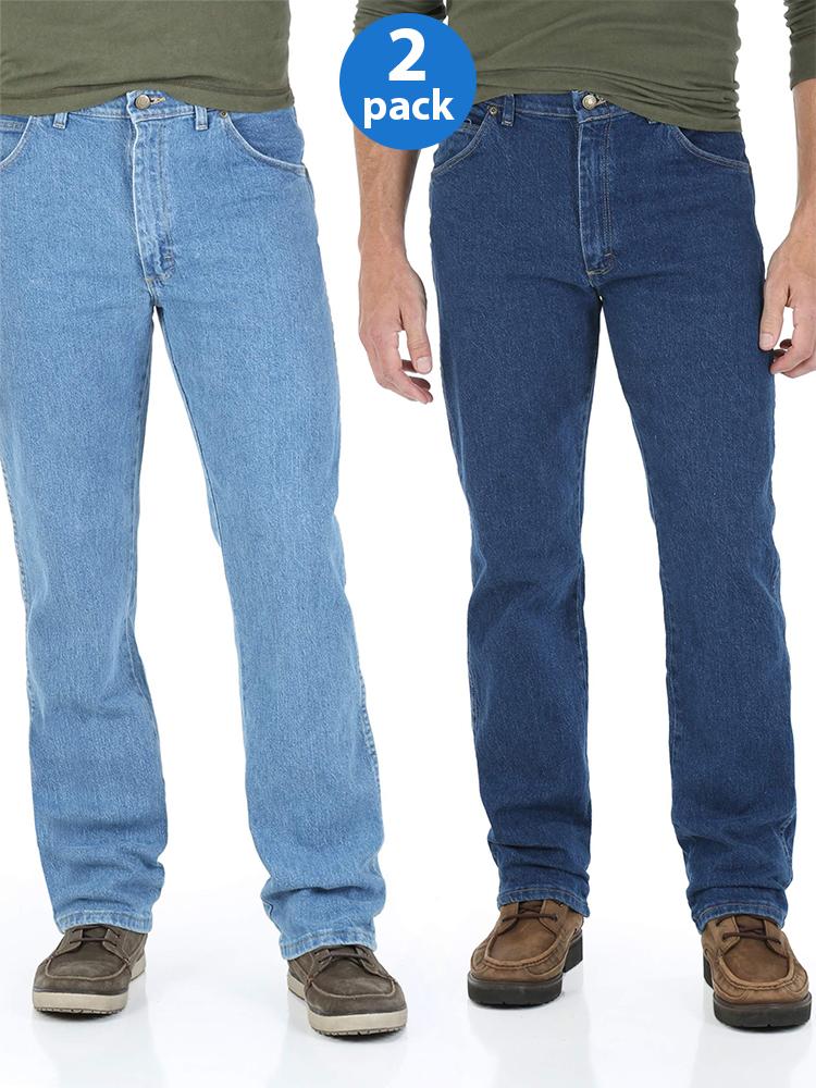 Big Men's Regular Fit Jeans with Comfort Flex Waistband 2-Pack Bundle